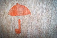 Close up of fragile symbol. Close up of fragile symbol on wood board stock image