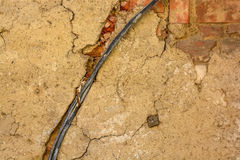 Close up fragment of old wiring Stock Photos