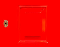 Close up frame red door for background Royalty Free Stock Images