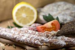 Close-up francês do salame Fotos de Stock Royalty Free