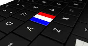 Close up of France button. Stock Image