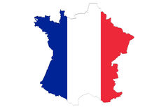 Close up on France on white background Royalty Free Stock Photography