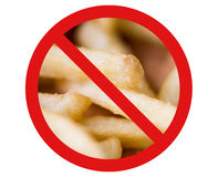 Close up of french fries behind no symbol Stock Image