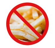 Close up of french fries behind no symbol Stock Photos