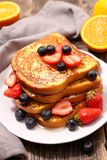 French toast with berries Stock Images