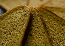 Close-up of fresh baked bread with a soft blurred background. Food. royalty free stock photography