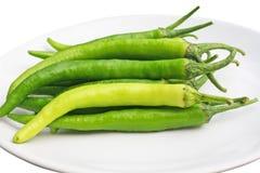 Fresh big green chilli. Close up Fresh big green chilli stock images