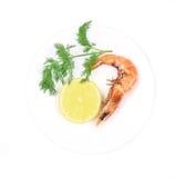 Close up of fresh boiled shrimp. Stock Image