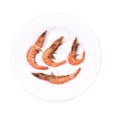 Close up of fresh boiled shrimp. Royalty Free Stock Image