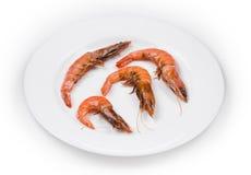 Close up of fresh boiled shrimps. Stock Photo