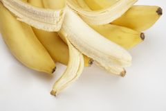 Close-up fresh bunch of bananas Royalty Free Stock Images