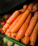 Close-up of fresh carrots in supermarket Stock Images