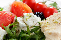 Close up of fresh cheese salad Stock Photos