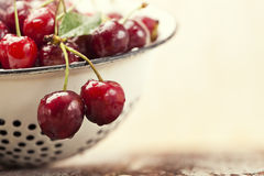 Close-up fresh cherries Royalty Free Stock Photography