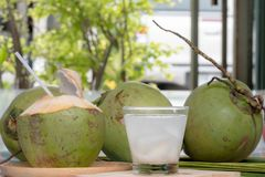 Coconut juice and coconut stock photography