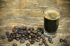Close up fresh coffee beans and isolated on white background , fresh material from market, healthy drink and international drink Royalty Free Stock Photography