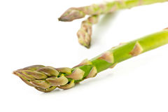 Close up of fresh cut raw, uncooked green asparagus vegetable Stock Photography