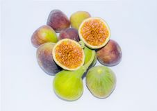 Close up of fresh fig fruit,sliced stock images