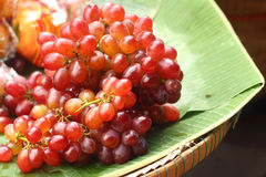 Close up fresh fruit grape at the market. Royalty Free Stock Photo