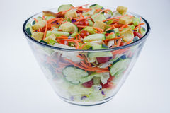 Close-up of a fresh garden salad Royalty Free Stock Photography