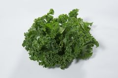 Close up of fresh green kale leaves Royalty Free Stock Image