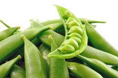 Close-up of fresh green pea Stock Image