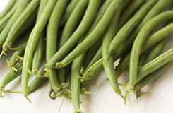 Close up of fresh green string beans Royalty Free Stock Photos