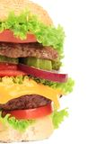 Close up of fresh hamburger. Stock Photo