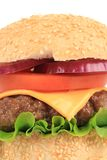 Close up of fresh hamburger. Royalty Free Stock Image
