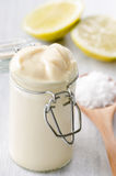 Close up of fresh homemade mayo Stock Photography
