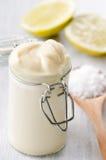 Close up of fresh homemade mayo Stock Photography