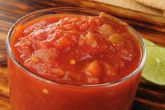 Close up of fresh homemade salsa Royalty Free Stock Photo