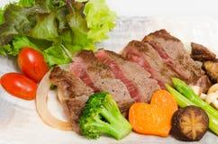 Close up  on fresh  Japanese Kobe Matsusaka Beef rolls Royalty Free Stock Photo