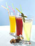 Close up of fresh juices Royalty Free Stock Photos