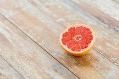 Close up of fresh juicy cut grapefruit Stock Images