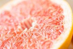 Close up of fresh juicy grapefruit slice Royalty Free Stock Photo