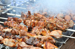 Close-up of fresh kebab Royalty Free Stock Photography