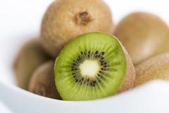 Close up of fresh kiwi on white background. Stock Photography
