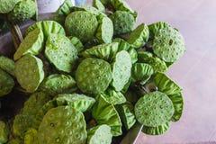 Close up of fresh lotus seed pod Stock Photo