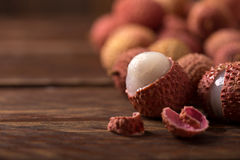 Close-up of fresh lychee Stock Photos