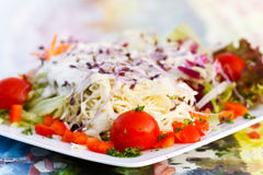 Close up , Fresh , mixed summer salad Royalty Free Stock Image