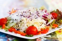 Close Up , Fresh , Mixed Summer Salad Royalty Free Stock Image