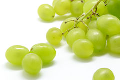 Close-up of fresh muscat grapes on white background. Selective focus. Stock Images