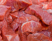 Close-up fresh natural meat background Royalty Free Stock Images