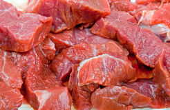 Close-up fresh natural meat to background Royalty Free Stock Photo