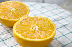 Close up fresh orange cut Stock Images