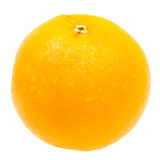 Close-up fresh orange isolated on white Royalty Free Stock Photography