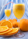 Close-up of fresh orange juice Royalty Free Stock Photo