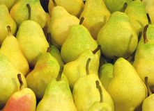 Close up of fresh pears Stock Images