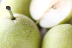 Close up fresh pears Royalty Free Stock Image